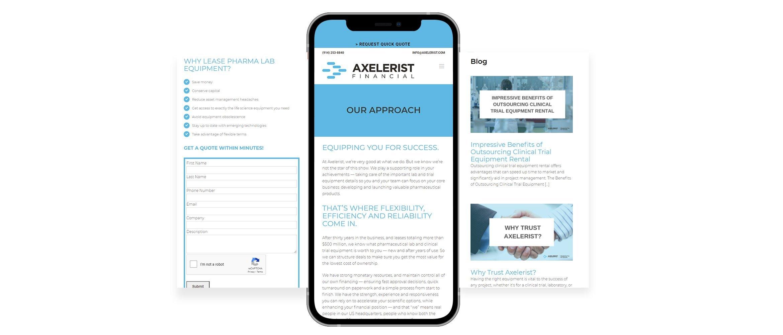 Axelerist website